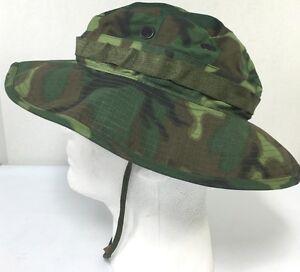 bdb239662c Image is loading ERDL-Camouflage-Boonie-Hat-Genuine-7-1-8-
