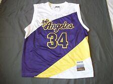 Delf Adult Los Angeles # 34 Big League Season HOP Basketball Jersey - Size XL