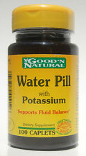 2 bottles Water Pill with Potassium Supports Fluid Balance 200 Tablets total