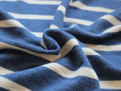 Bio-Wolle/Seide Nachtblau Wollweiß Ringel 70% Wolle (Merino), 30% Seide