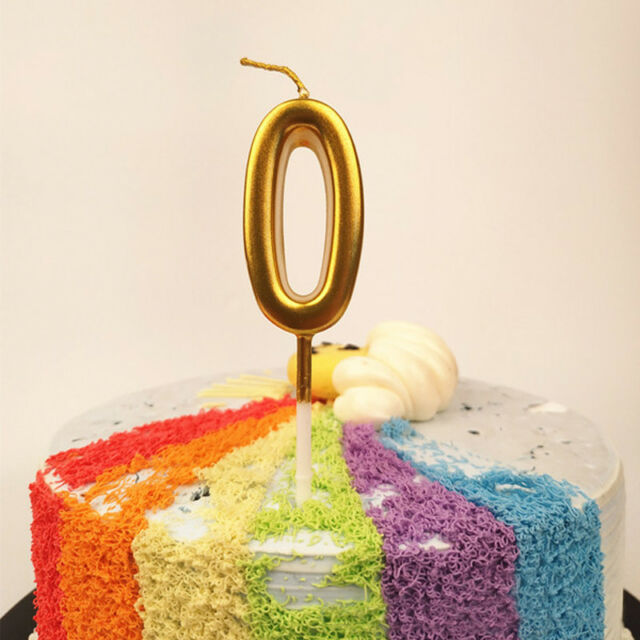 Brand New Number Birthday Candles Rainbow Number Birthday Party Cake 0-9