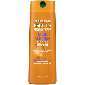 ea8d3e3954cf Details about Garnier Fructis Curl Nourish Sulfate-Free Shampoo Infused  Coconut Oil & Glycerin