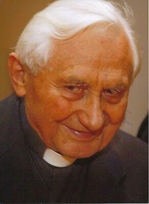 Autogramme & Autographen Georg Ratzinger Kirche 20 X 27 Cm Foto Original Signiert 406676 Verbraucher Zuerst