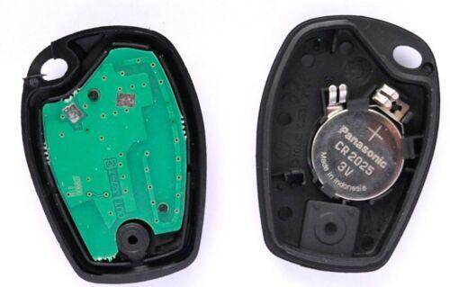 Llaves de coche 2 teclas Control remoto 434 MHz para Renault Twingo Clio Kangoo