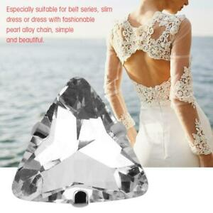 Crystal-Glass-Diamond-Triangle-Flat-Back-Faceted-Sew-on-Claw-Cup-Beads-Craft