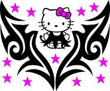 Hello Kitty Tribal DRESSnDESIGN Decal Vinyl Graphic Hood Side Of - Vinyl decals cartribal hearts decal vinylgraphichood car hoods decals and