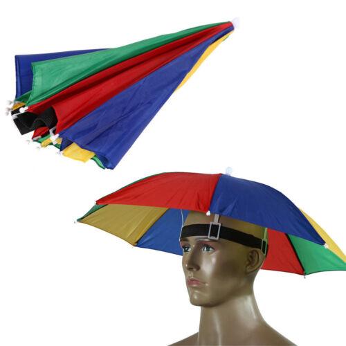 Foldable Umbrella Hat Sun Visor UV Protection Fishing Camping Fun Headwear Cap