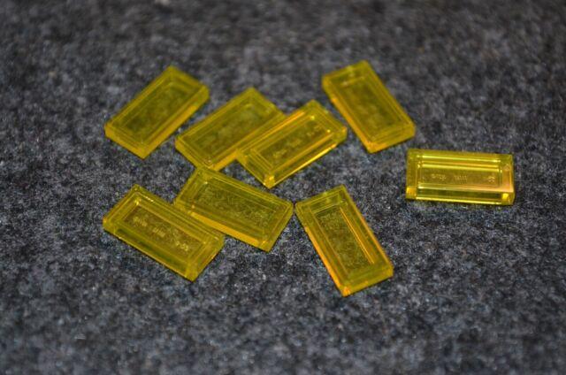 8 1x2  Clear Translucent Bricks ~  Lego  ~ NEW ~