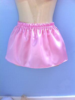 baby pink satin skirt tutu adult baby adult child sissy cd tv fancy dress 40-52