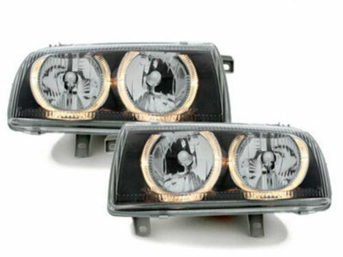 Forlygter til VW VENTO 1992-1998 Angel Eyes Sort Gratis forsendelse LPVW32WM XIN