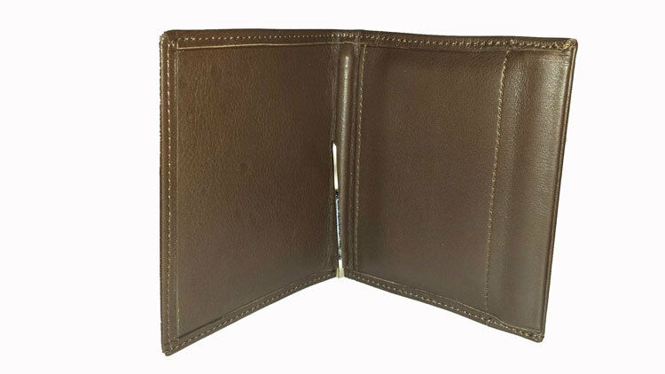 Leather wallet ubrique. man wallet and tongs. at
