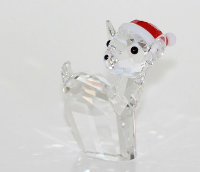 Swarovski Original Christmas Figurine Doe With Santa Claus Hat 5135853 New