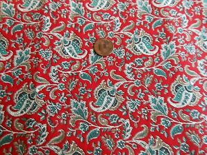 Cotton Quilting Fabric Green Blue Amp Beige Paisley On