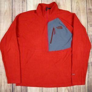 Mens-Vintage-The-North-Face-Quarter-Zip-Fleece-Jumper-FlashDry-Red-Size-L