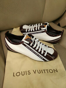 Louis-Vuitton-Impulsion-Canvas-Logo-Sneakers-Trainers-Fashion-Suede-White-Brown