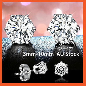 9K-WHITE-GOLD-GF-SILVER-MEN-LADY-CRYSTAL-CT-LAB-DIAMOND-CLAW-ROUND-STUD-EARRINGS
