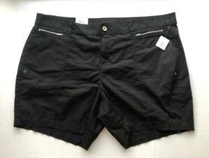 Womens Plus Woman Zip Pockets Khaki Khaki Shorts Beige 20W Style /& Co