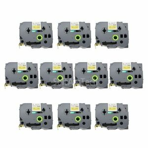 10pk-Black-on-Yellow-Label-Tape-Compatible-for-Brother-P-Touch-TZ-TZe-FX661-36mm