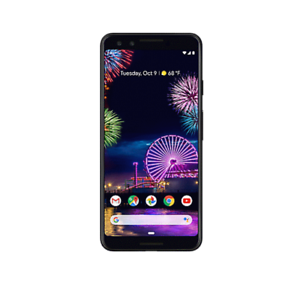 Google-Pixel-3-64GB-Verizon-Smartphone-Just-Black-Light-Screen-Burn