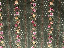 Cotton Quilt Fabric Rose Garden Tea by Ro Greg Quest for a Cure Stripes BTHY