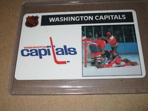 1976-77 POPSICLE CREDIT CARD STYLE HOCKEY CARD WASHINGTON CAPITALS   eBay