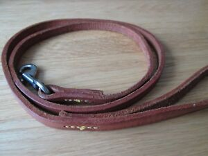 Genuine-tan-Leather-small-Dog-Lead-1-metre