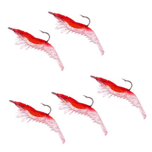 Details about  /5Pcs Creative Shrimp Style Soft Prawn Seefischerei Köder Simulation Hook Baits