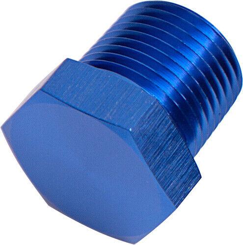 "Aeroflow AF933-04 Npt Hex Head Plug 1/4"" Npt Blue"