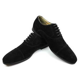 Dress shoes cap toe suede lace up modern oxfords by azar man ebay