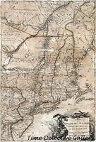 Revolutionary War battle Theater Map - 1777 - Poster In 5 Sizes