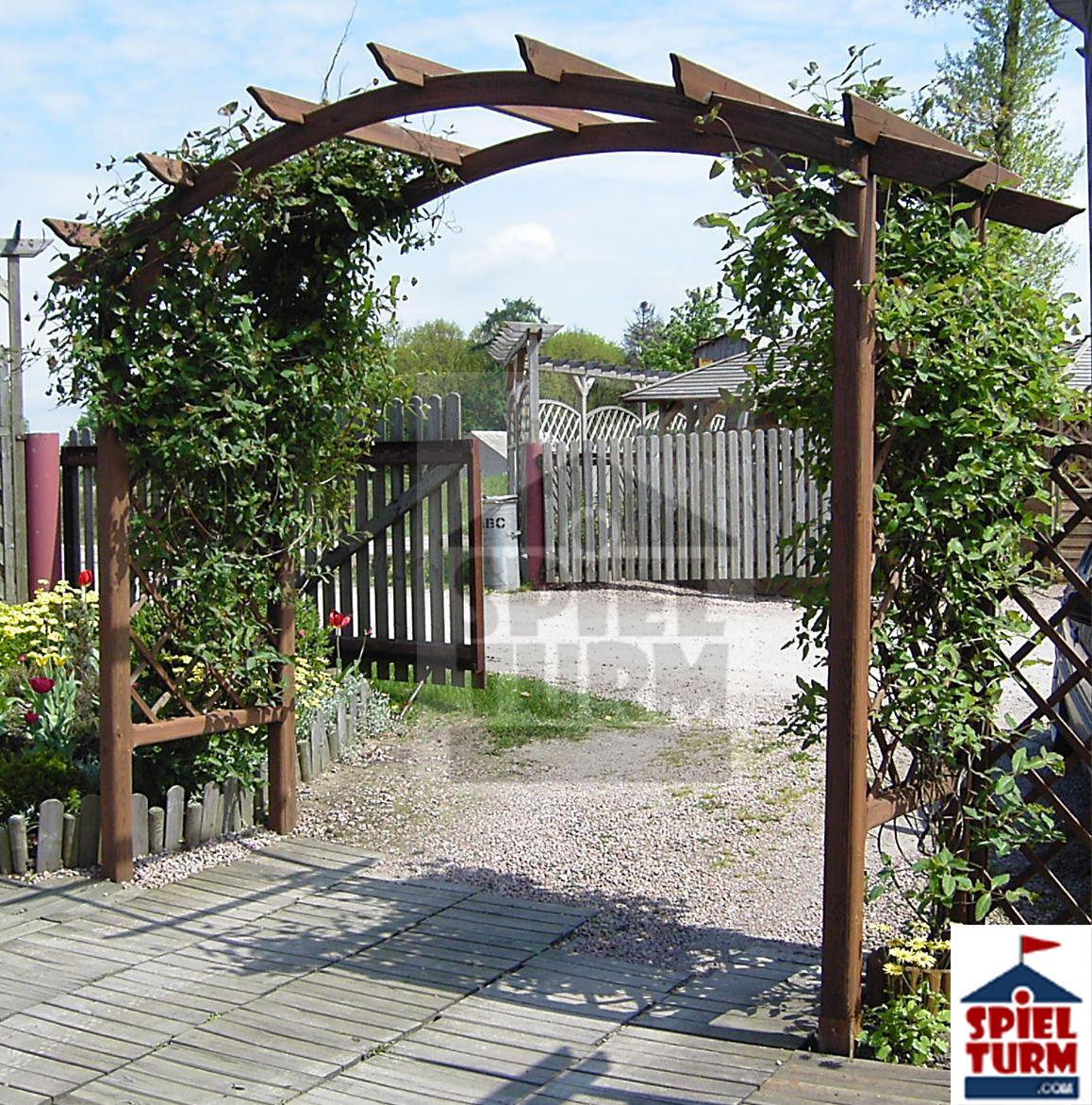 HOQ Rosanbogen Bogen Gartenbogen Gartendekoration Spalier Rankgitter aus Holz
