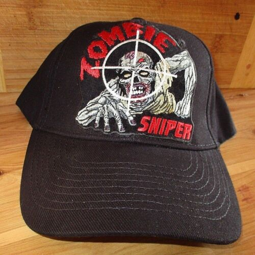 Zombie sniper 100% cotton quality cap hat men's shed rider biker