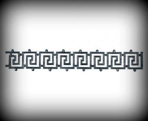 Zierornament 940x150 mm zierelement FORGE fer porte clôture garde-corps 10-164