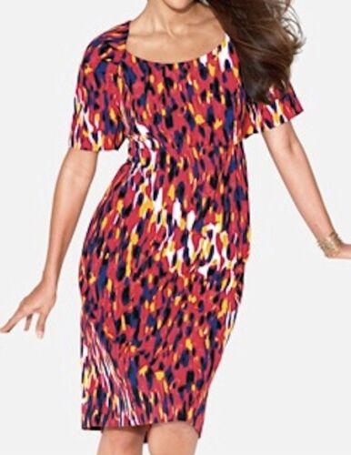 woman plus size 1X knee length sheath Spring dress 2X 14W 16W 4X 3X