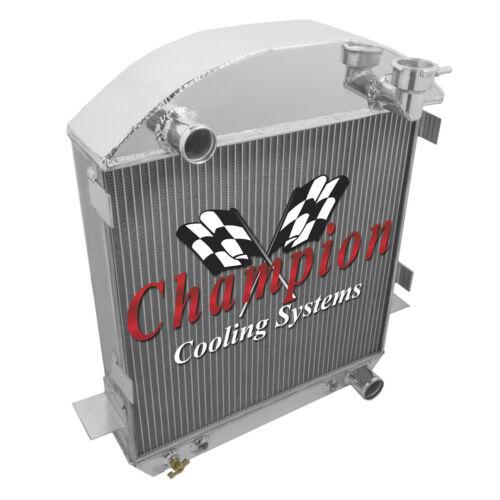 "1917-1927 T-Bucket W// Chevy Configuration 2 Row 1/"" Champion Aluminum Radiator"
