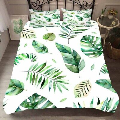 Tropical Leaves Quilt Doona Duvet Cover Set Palm Leaf Double Queen King Size Bed Ebay Over 531,083 tropical leaves pictures to choose from, with no signup needed. tropical leaves quilt doona duvet cover set palm leaf double queen king size bed ebay