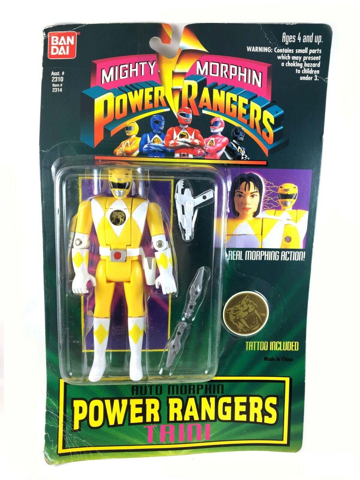 Auto Morphin Yellow Ranger Trini Vintage Power Rangers Figure MOC MOC MOC New 90s b47484