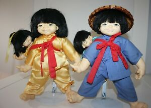 Vintage-Pair-of-Mieler-Dolls-Chopstick-Kids-Jacobsen-Girl-Boy