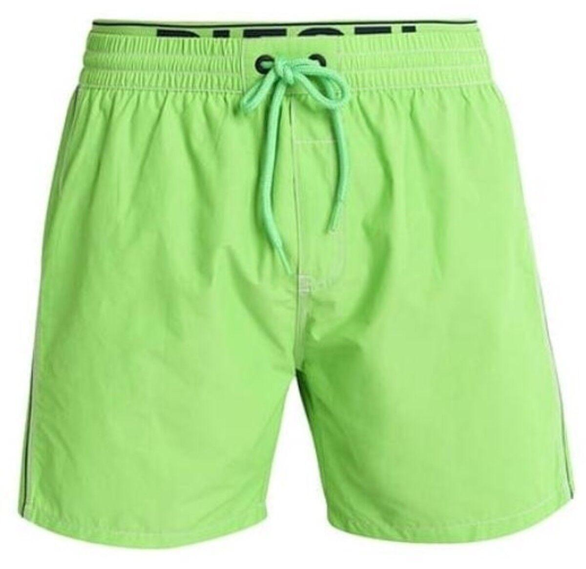 DIESEL Beachwear 'Dolphin 2' Men's Swim   Bathing Trunks Board Shorts L Lime NWT