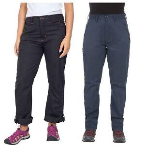 Trespass-Footfall-Womens-Black-Navy-Walking-Hiking-Pants-Roll-Up-UV-Trousers