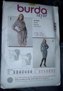 e3fc3d1061bdb Vintage Burda Sewing Pattern 7448 Semi Fitted Dress Uncut Sizes 10 ...