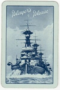 Playing-Cards-1-Single-Card-Old-PLAYERS-Cigarettes-Advertising-NAVY-DESTROYER-2