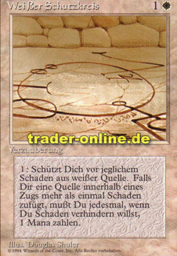 2x Weißer Schutzkreis Circle of Protection: White Magic limited black bordered