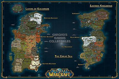 Rgc Huge Poster World Of Warcraft World Map Wow Pc Ext184 Ebay
