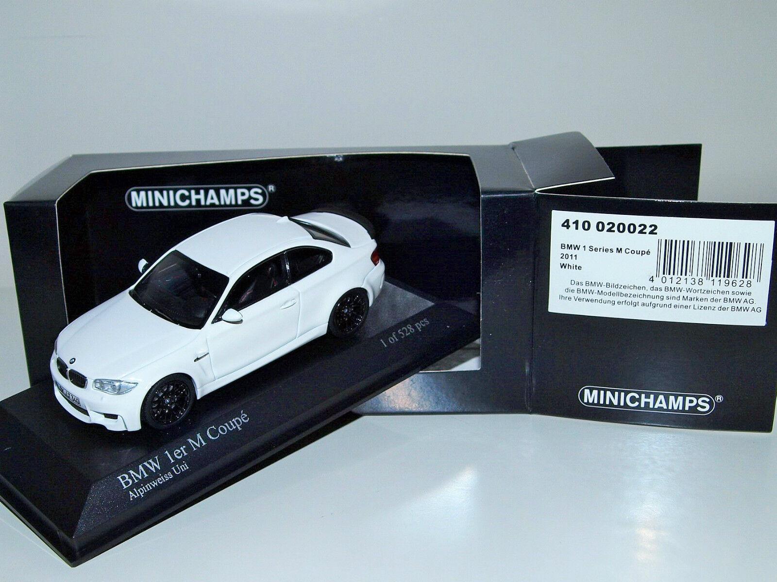 Bmw 1er m coupé 2011 zu weißen 1 528 pcs minichamps 1   43 410 020022 neue