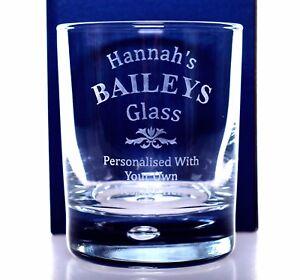 Engraved BAILEYS Glass Tumbler Gift Christmas/Mum/<wbr/>Mummy/Nan/Nann<wbr/>y/Daddy/Dad/So<wbr/>n