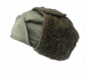 f162fda0c Details about French Military Army / Foreign Legion cold weather Winter  Arctic trapper hat Cap