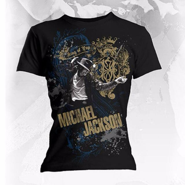MICHAEL JACKSON ROYAL OFFICIAL LADIES FITTED SLIMFIT BABYDOLL T-SHIRT