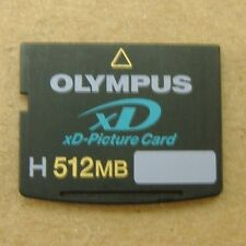 Olympus xD H Type 512 MB Digital Picture Memory Card MXD512H3 w/ case USA Seller