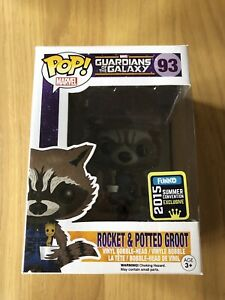 Marvel-Guardians-Of-The-Galaxy-Rocket-And-Potted-Groot-Sdcc-Funko-Pop-Vinyl